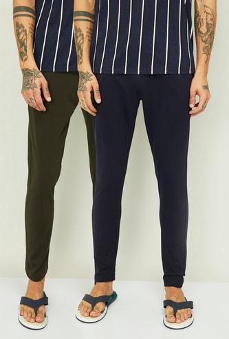 FAME FOREVER Men Solid Lounge Pants - Pack of 2