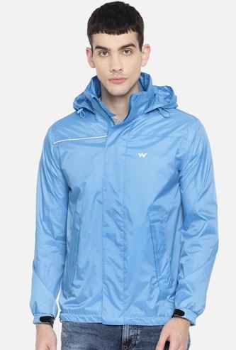 WILDCRAFT Men Solid Hooded Rain Jacket