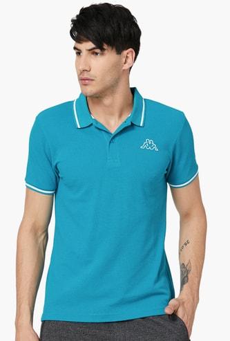 KAPPA Men Solid Polo T-Shirt