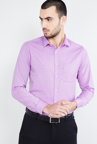 MAX Textured Formal Shirt with Spread Collar