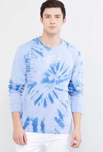 MAX Ombre Dyed Crew Neck Sweatshirt