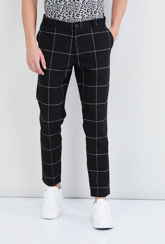 MAX Checked Regular Fit Casual Trousers