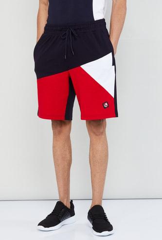 MAX Colourblock Shorts with Drawstring Waist