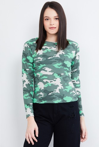 MAX Camouflage Print Full Sleeves T-shirt