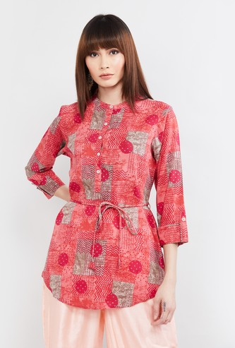 MAX Printed Three-quarter Sleeves Tunic