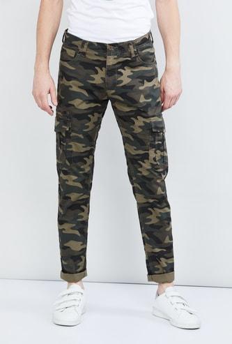MAX Camouflage Print Cargo Pants