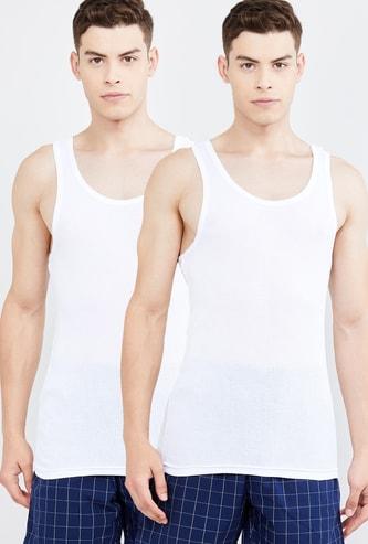 MAX Textured Anti-Bacterial Racerback Vests - Set of 2 Pcs