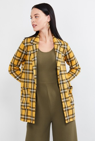 MAX Checked Lapel Collar Jacket