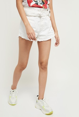 MAX Solid Shorts with Waistbelt