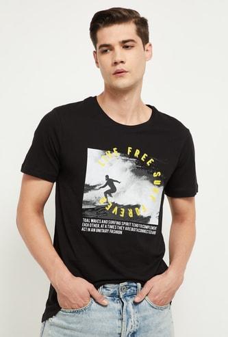 MAX Graphic Print Slim Fit Crew Neck T-shirt