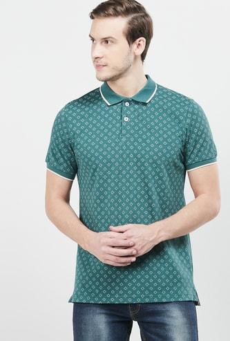 MAX Printed Slim Fit Polo T-shirt