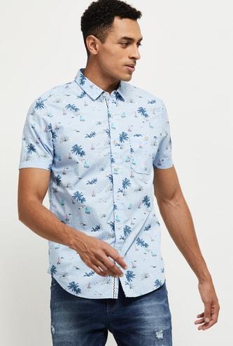 MAX Floral Printed Slim Fit Casual Shirt