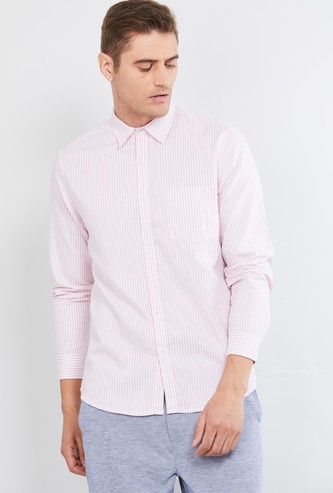 MAX Striped Full Sleeves Slim Fit Casual Shirt