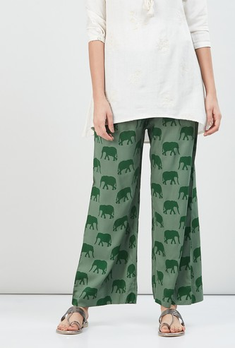 MAX Printed Eco Liva Woven Pants