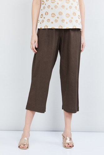 MAX Solid Elasticated Casual Pants