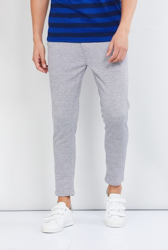 MAX Textured Woven Casual Trousers
