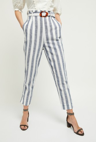 MAX Striped Casual Trousers