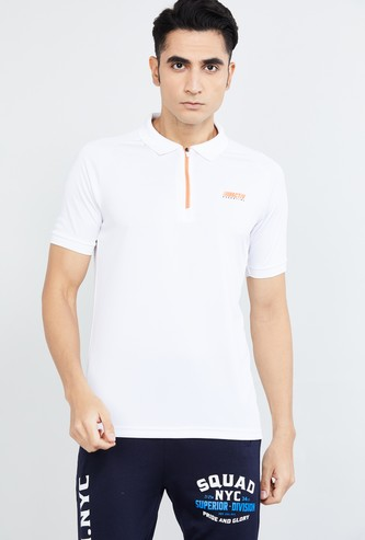 MAX Freshon & Neudri by N9 Solid Polo T-shirt