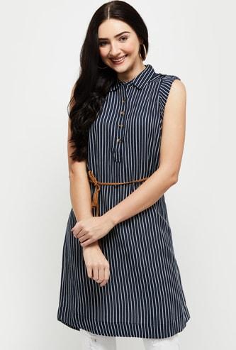 MAX Striped Sleeveless Tunic