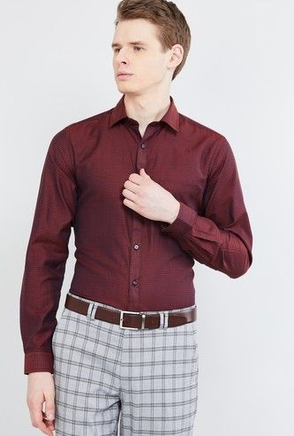MAX Textured Formal Shirt with Long Sleeves