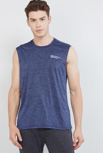 MAX Freshon & Neudri by N9 Solid Sleeveless Sports T-shirt