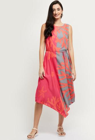 Max Printed Asymmetric Hem Ethnic Dress