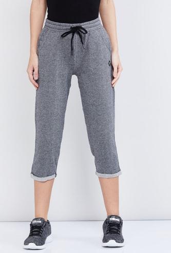 MAX Textured Elasticated Three-Fourth Pants