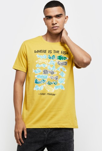 MAX Typographic Print Regular Fit T-shirt