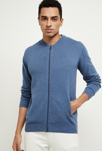 MAX Solid Zipper Sweater