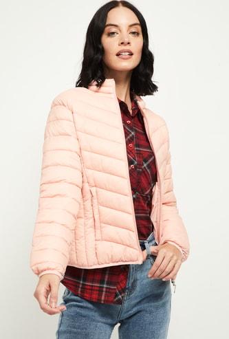 MAX Solid Puffed Full Sleeves Jacket