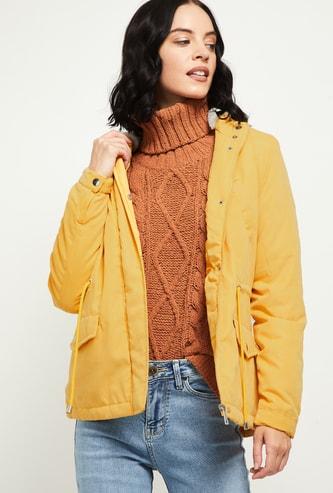 MAX Solid Hooded Parka Jacket
