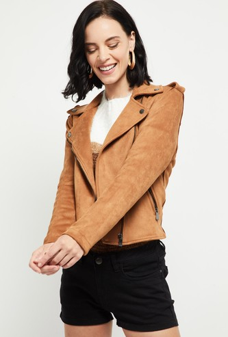 MAX Solid Suede Jacket