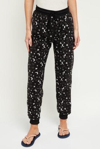 MAX Printed Drawstring Waist Jogger Pyjamas
