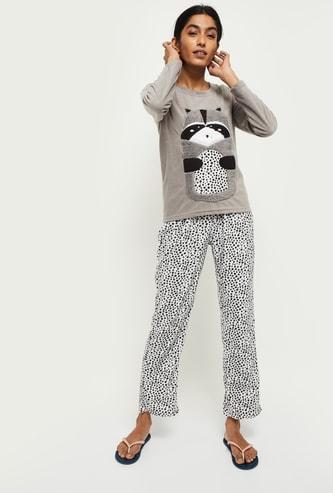 MAX Printed Lounge Sweatshirt with Pyjamas