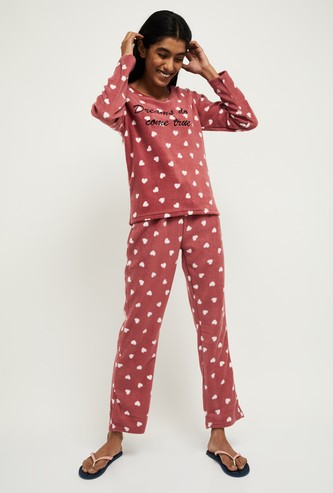 MAX Printed Full Sleeves T-shirt with Pyjamas