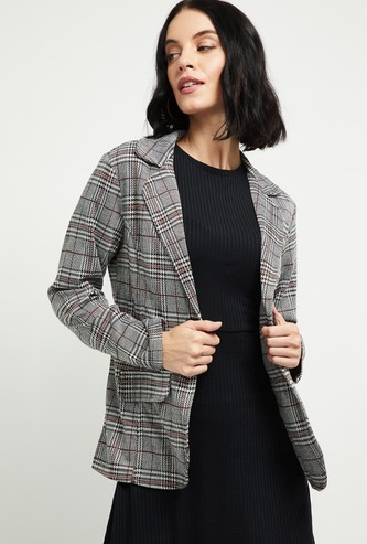 MAX Checked Single-Breasted Blazer