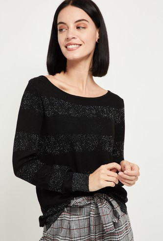 MAX Speckled Round-Neck Pullover