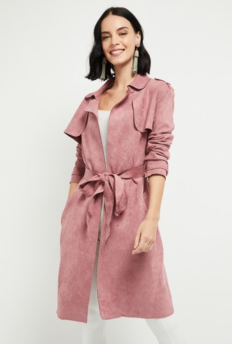 MAX Textured Open-Front Longline Jacket