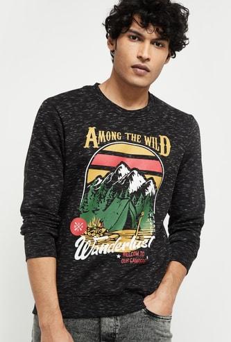 MAX Graphic Print Slub Sweatshirt