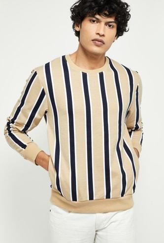 MAX Striped Sweatshirt with Insert Pockets