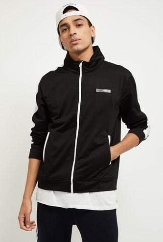 MAX Colourblocked Zip-Closure Sweatshirt with High-Neck