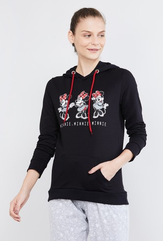 MAX Mickey Mouse Print Hooded Lounge Sweatshirt