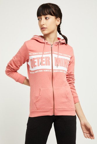MAX Typographic Print Hooded Jacket