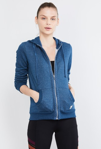 MAX Textured Full Sleeves Hooded Jacket