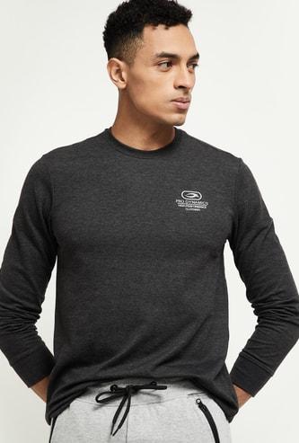 MAX Textured Full Sleeves Regular Fit T-shirt
