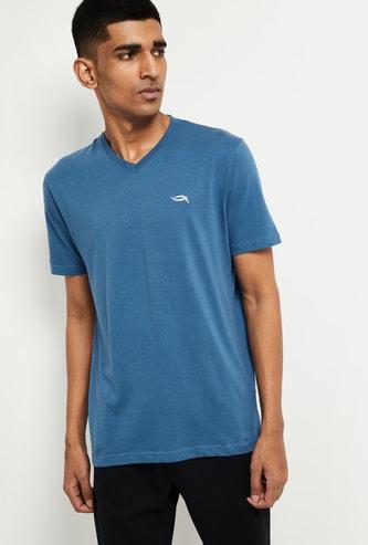 MAX Solid Short Sleeves V-neck Lounge T-shirt