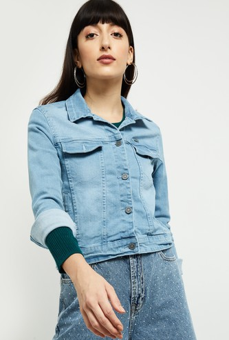 MAX Light Washed Denim Jacket