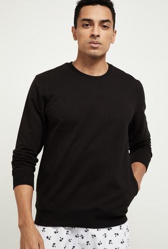 MAX Solid Crew Neck Sweatshirt