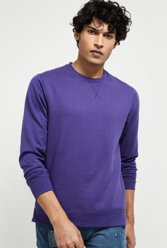 MAX Solid Crew-Neck Sweatshirt