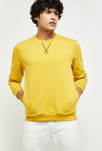 MAX Solid Full Sleeves Sweatshirt with Insert Pockets